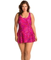 Maxine Plus Ethnic Twist Swimdress