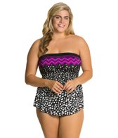 Maxine Plus In The Groove Bandeau Sarong One Piece
