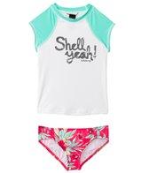 Billabong Girls' Shell Ya S/S Rashguard Set (4-14)