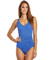 Penbrooke Krinkle Mock Surplice One Piece