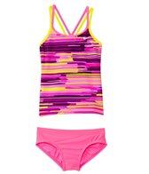 Nike Girls' Frequency Spiderback Tankini Set (7-14)
