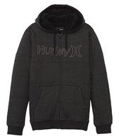 Hurley Men's One & Only Herringbone Zip Fleece Hoodie