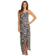 Kenneth Cole Reaction Zebra Fever High Neck Wrap Dress