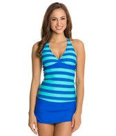 Next Lined Up Super Woman Racer Back Tankini Top