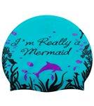 Sporti I'm Really a Mermaid Silicone Swim Cap