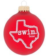 Bay Six Texas State Swim Ornament