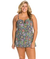 Fit4U Plus Size Morocco Underwire Swim Dress