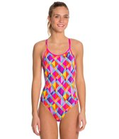Funkita Prisim Collision Diamond Back One Piece Swimsuit