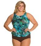 Topanga Plus Size Trinidad Mastectomy Tank Strap Blouson Top