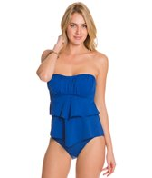 Sunsets Solid Underwire Bandeau Tankini Top (D/DD)