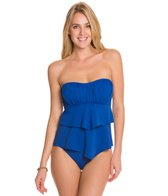 Sunsets Solid Underwire Bandeau Tankini Top (E/F/G)