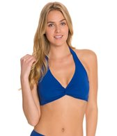 Sunsets Solid Underwire Twist Halter Top (E/F/G)