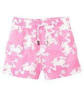 98 Coast Av. Boys' Pink Frog Swim Trunks (1-12yrs)
