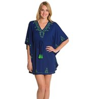 Cabana Life Cape Mod Embroidered Jersey Cover Up