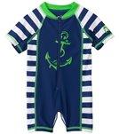 Cabana Life Boys' Anchor Infant Rashguard Onesie (3-24mos)
