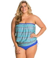 Athena Plus Size Sunset Serenade Soft Cup Banded Bandini Top