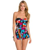 Ceeb Sunset Bandeau Skater Swimdress