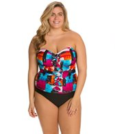 Ceeb Plus Size Sunset Bandeau One Piece
