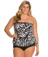 Ceeb Plus Size Out of Africa Bandeau Blouson Top