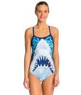 HARDCORESPORT Women's Shark Bait Cali Back One Piece Swimsuit