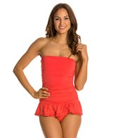 Coco Rave Solid Groovy C/D Cup Bandeau Skirted Swimdress