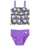 Hello Kitty Girls' Zebra Kitty Tankini Two Piece Set (2T-4T)