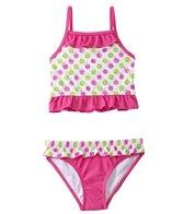 Sunshine Zone Girls' Spotty Dotty Ruffle Two Piece Set (4yrs-6X)