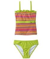 Sunshine Zone Girls' Striped Tankini Two Piece Set (2T-4T)