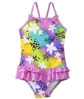 Sunshine Zone Girls' Rainbow Floral Ruffle One Piece (6mos-18mos)