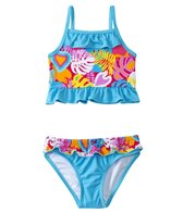 Sunshine Zone Girls' Tropical Love Ruffle Two Piece Set (6mos-18mos)