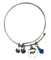 Totally Stroked Silver 'Fly' Bracelet