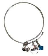 Totally Stroked Silver 'BRST' Bracelet