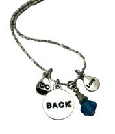 Totally Stroked Silver 'Back' Necklace