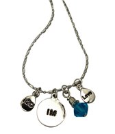 Totally Stroked Silver 'IM' Necklace