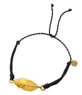Pura Vida Gold Feather Black Bracelet