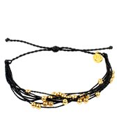 Pura Vida Gold Beaded Black