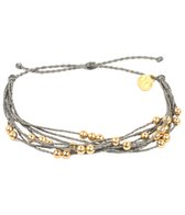 Pura Vida Gold Beaded Grey