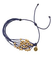 Pura Vida Gold Beaded Indigo Bracelet