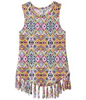 Billabong Girls' Shimmy Down Fringe Tee Shirt Dress (4yrs-6yrs)
