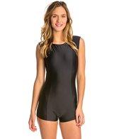 Sofia Solid Black Surf Jumpsuit One Piece Swimsuit