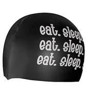 1Line Sports Eat Sleep Swim Silicone cap