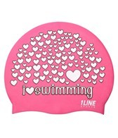 1Line Sports Love Swimming Silicone Cap