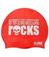 1Line Sports Swimming Rocks Silicone Cap