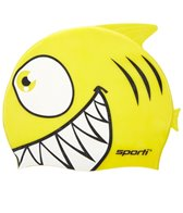 Sporti Cartoon Shark Silicone Swim Cap Jr.