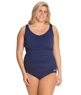 Speedo Endurance Side Shirred Contourback Plus Size