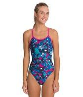 Sporti Paint Splatter Thin Strap Swimsuit