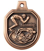 1.5 Swimming Male Die Cast Medal