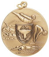 1.75 Diving Female Die Struck Medal