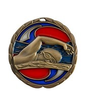 2.5 Swimming Die Cast Suncatcher Medal