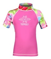 Tidepools Girls' Hanalei S/S Rash Guard (2-14yrs)